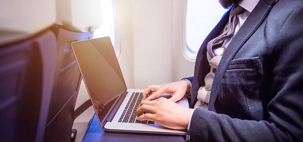 going online in flight
